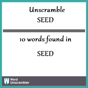 10 words unscrambled from seed
